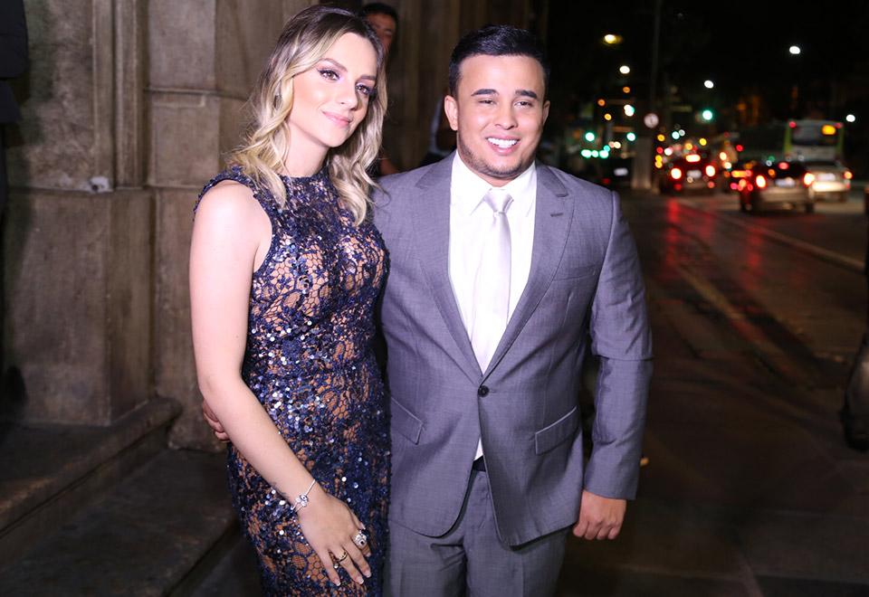 Kauan e a mulher Sarah Biancolini - Foto: Anderson Borde e Wallace Barbosa/AgNews
