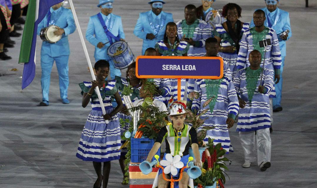 A roupa de Serra Leoa também foi muito elogiada