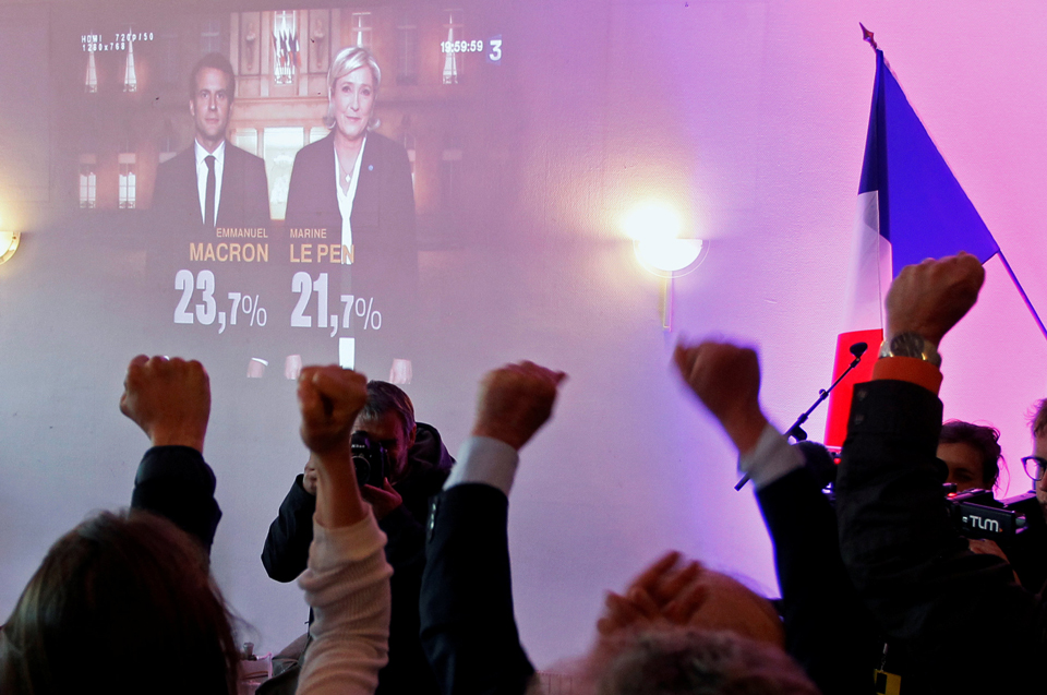 O primeiro turno da disputa presidencial na França