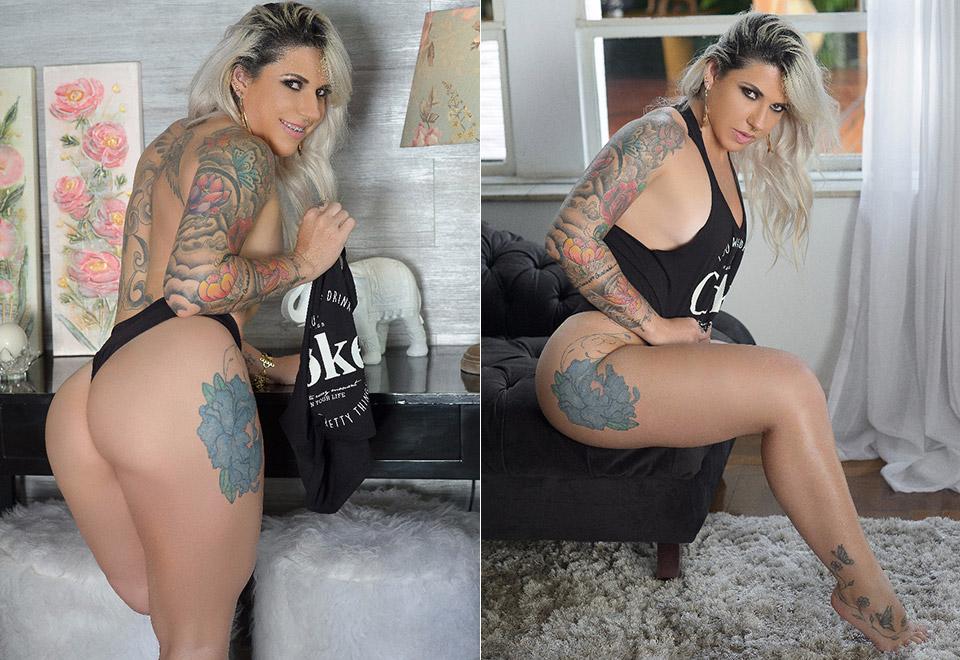 Candidata do Miss Bumbum com perna amputada faz ensaio sexy
