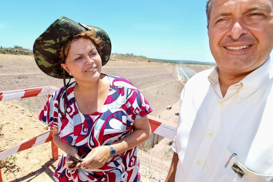 Dilma conferiu como estão as obras do São Francisco / Roberto Stuckert Filho/PR