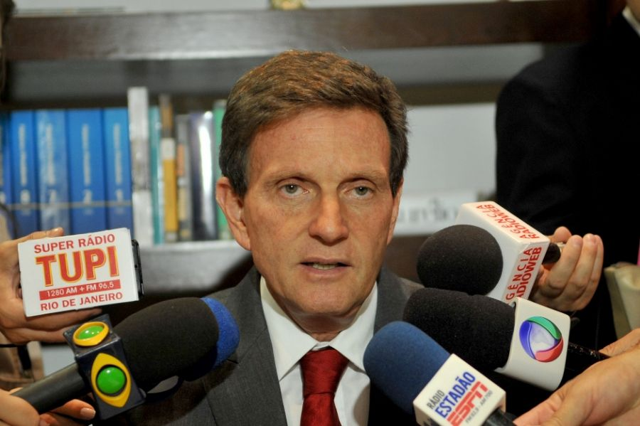 Indicado para o cargo de ministro da Pesca e Aquicultura, o senador Marcelo Crivella concede entrevista / Antônio Cruz/ABr