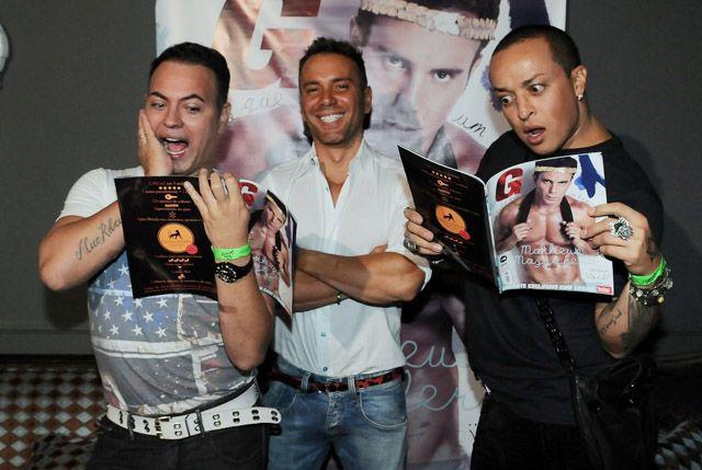 O ex-BBB Dicésar e o estilista Walério Araújo também aprovaram as fotos