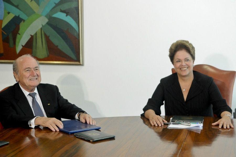 Blatter se reuniu com Dilma nesta sexta-feira / Wilson Dias/ABr