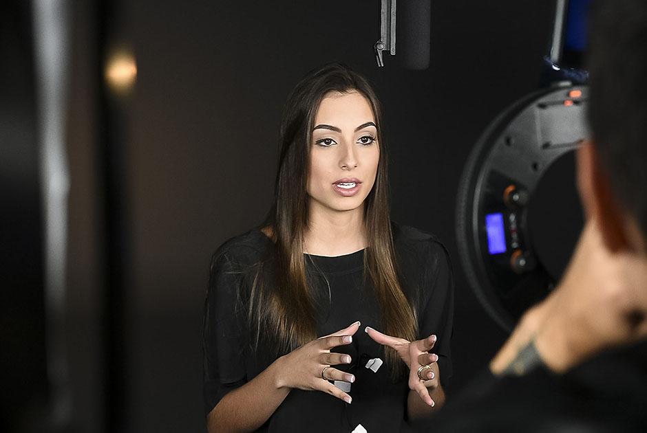 Candidatas a Miss São Paulo gravam perfil para ser exibido no concurso