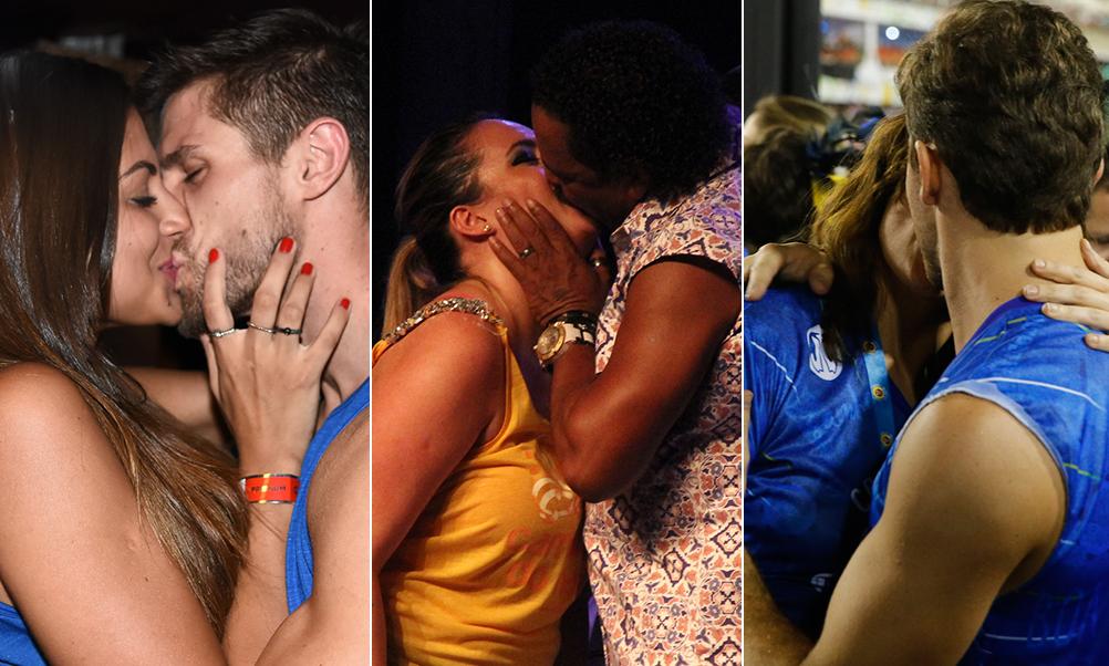 Veja os famosos que beijaram muuuuuito neste Carnaval