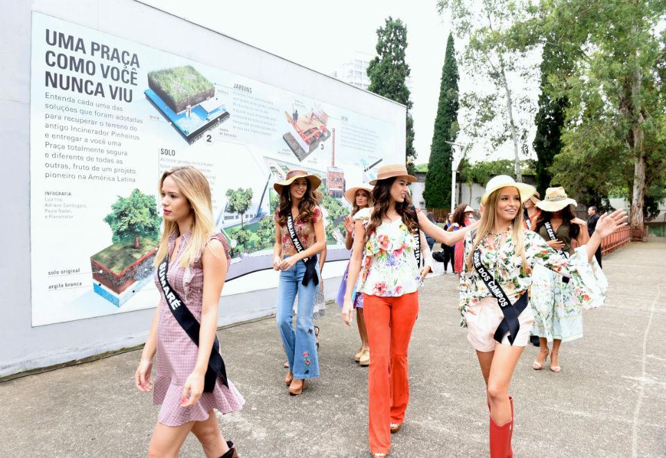 Misses participam de ação social em São Paulo