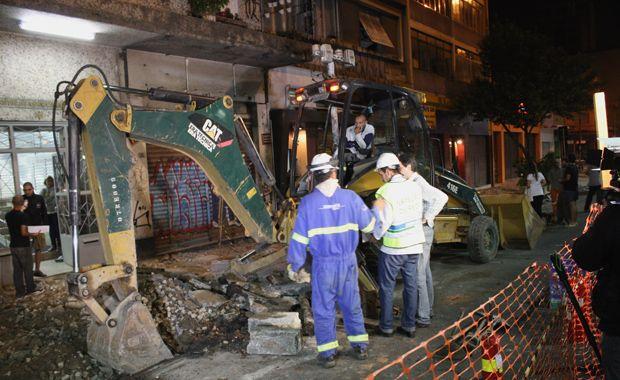Vazamento de gás em obra assustou os moradores de dois edifícios