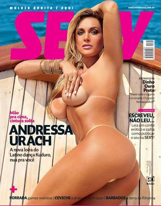 Andressa Urach protagoniza a capa e o recheio da Sexy de abril / Divulgação/Sexy