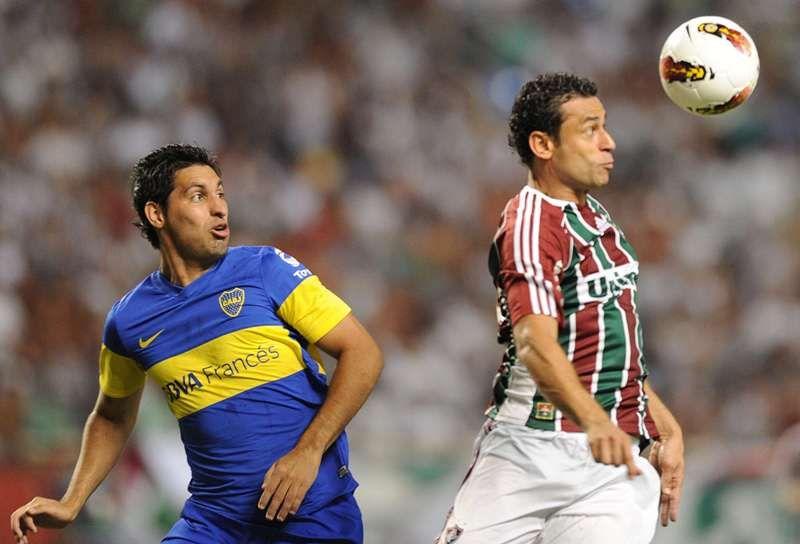 Fred durante o jogo do Fluminense contra o Boca Juniors no Engenhão / Vanderlei Almeida/AFP