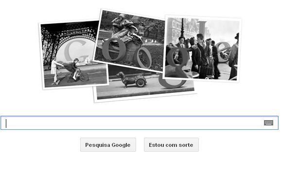 Doodle homenageia cem anos de Robert Doisneau  / Reprodução/Google