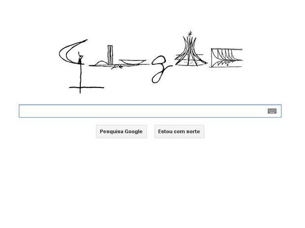 Aniversário de Brasília é tema de doodle do Google / Reprodução/Google