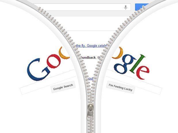 Buscador tem doodle interativo, que pode ser aberto como um fecho nesta terça-feira / Reprodução/ Google