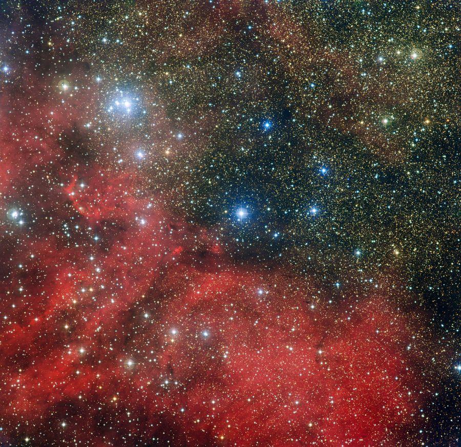 Observatório registra aglomerado de estrelas. F_97117