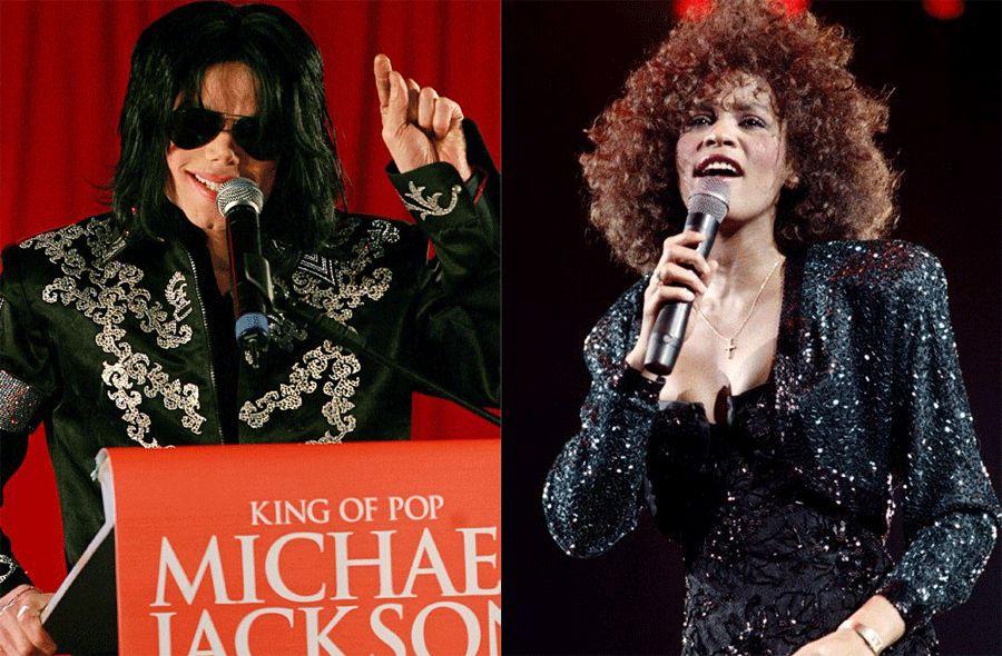 Michael Jackson e Whitney Houston / AFP
