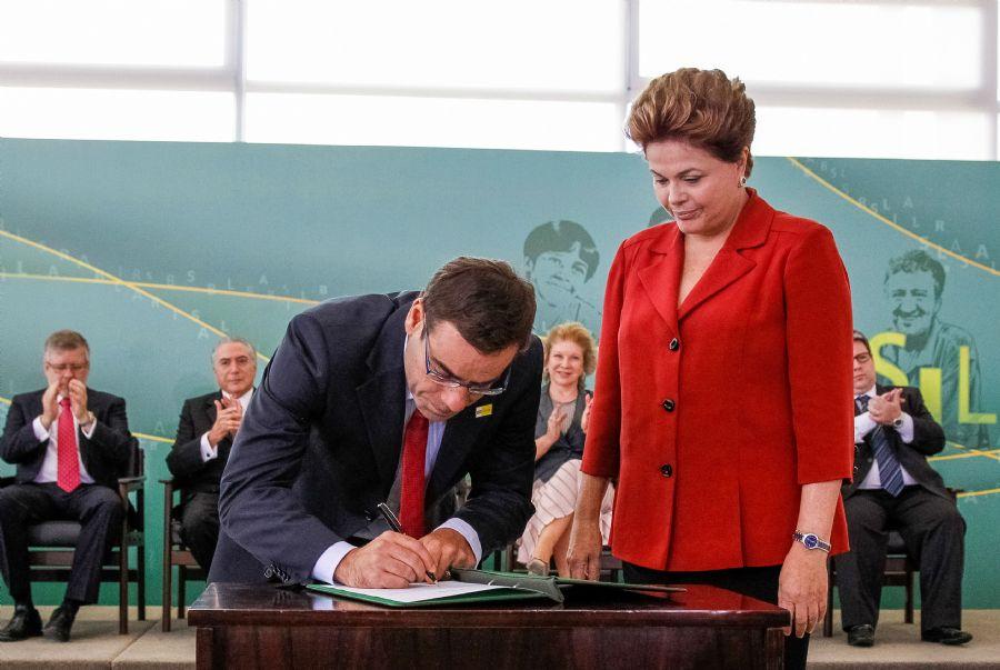 Dilma Rousseff acompanhou a cerimônia de posse do novo Ministro do Trabalho Brizola Neto / Roberto Stuckert Filho/ PR