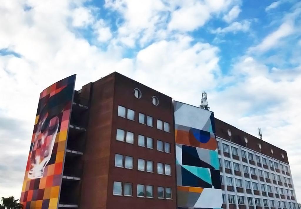 Projeto leva grafite a centro de convenção em Roma