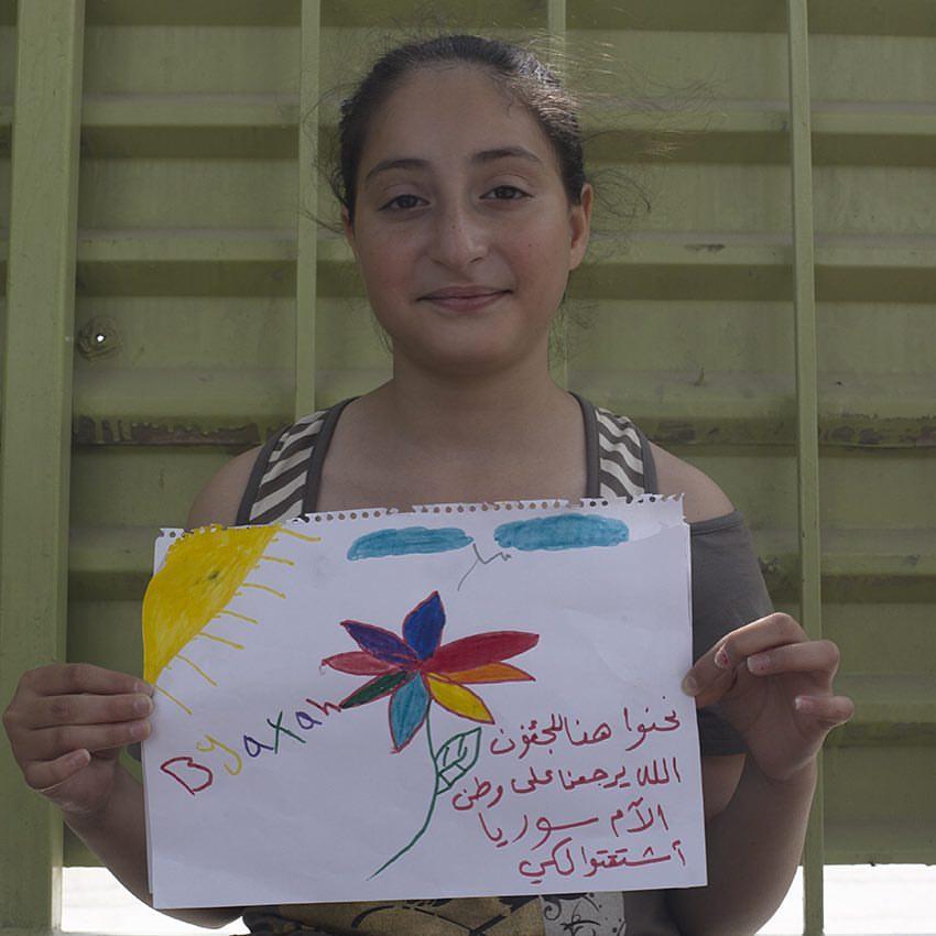 Crianças narram a crise migratória em desenhos