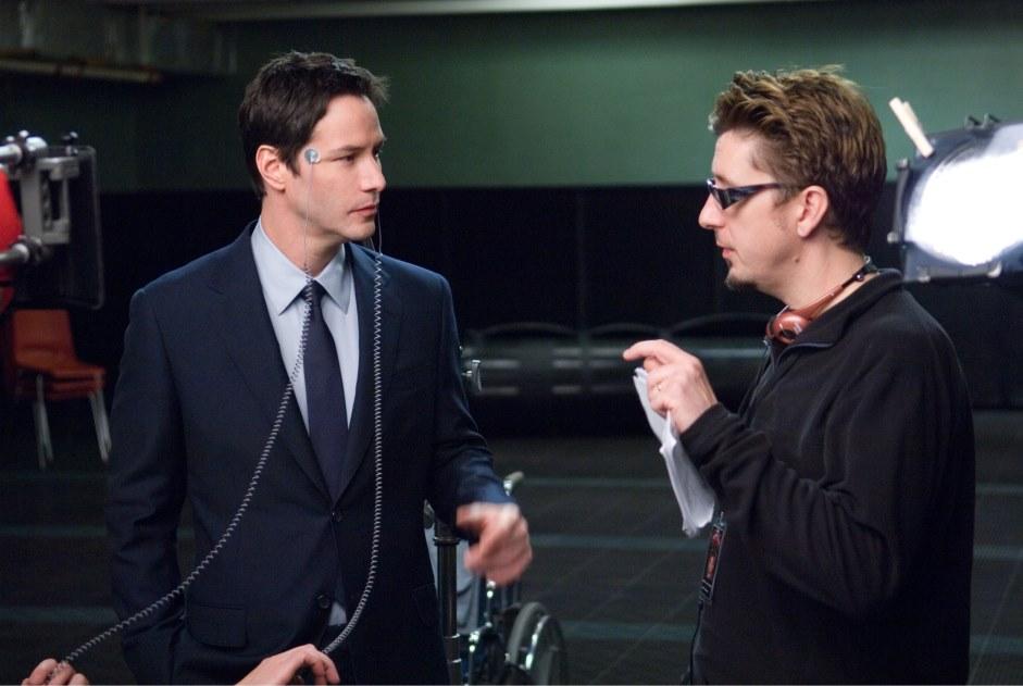 Keanu Reeves e o diretor Scott Derrickson