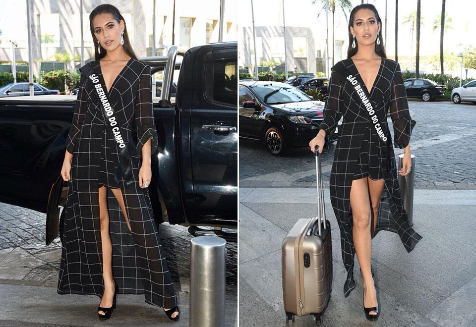 Candidatas ao Miss São Paulo 2018 chegam ao hotel