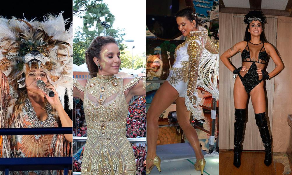 Decotado ou cintilante: Relembre os looks das musas do Carnaval 2016