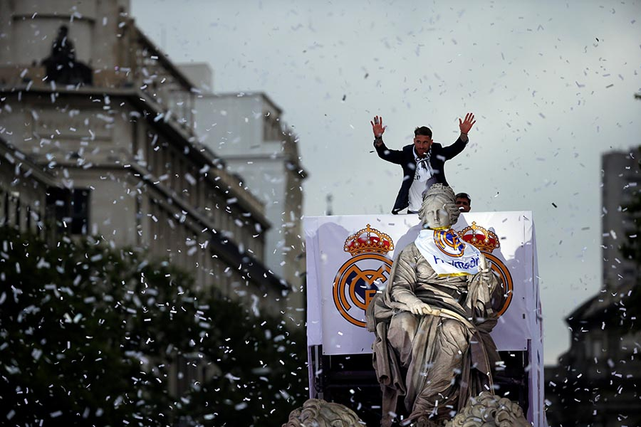 Torcida faz festa para Real Madrid