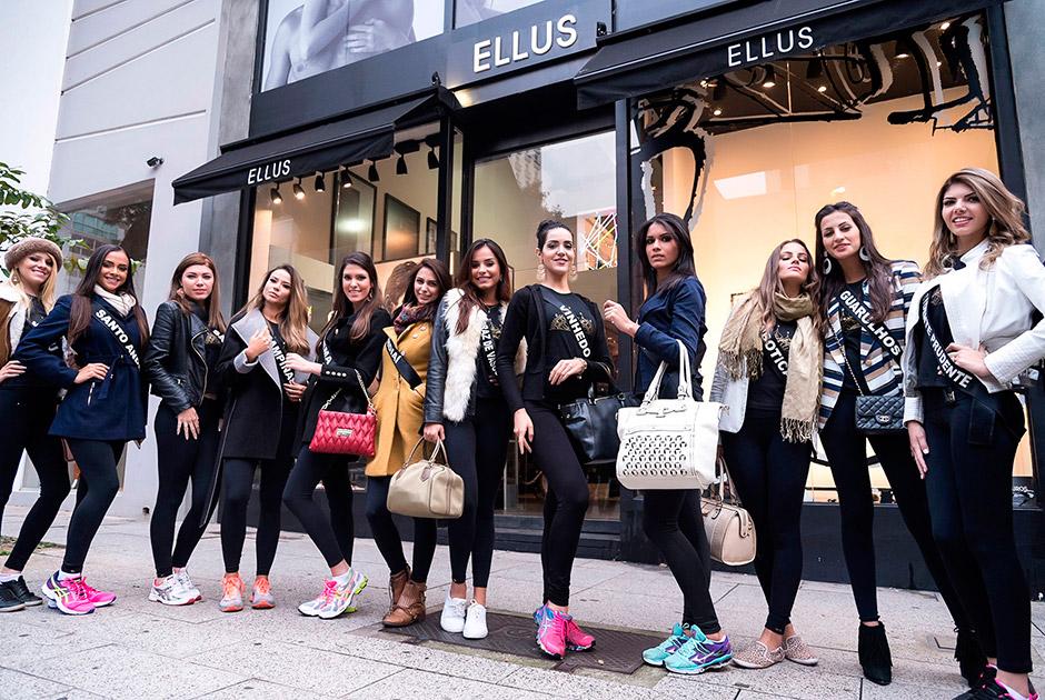 Candidatas a Miss São Paulo visitam loja e fazem ensaio fotográfico