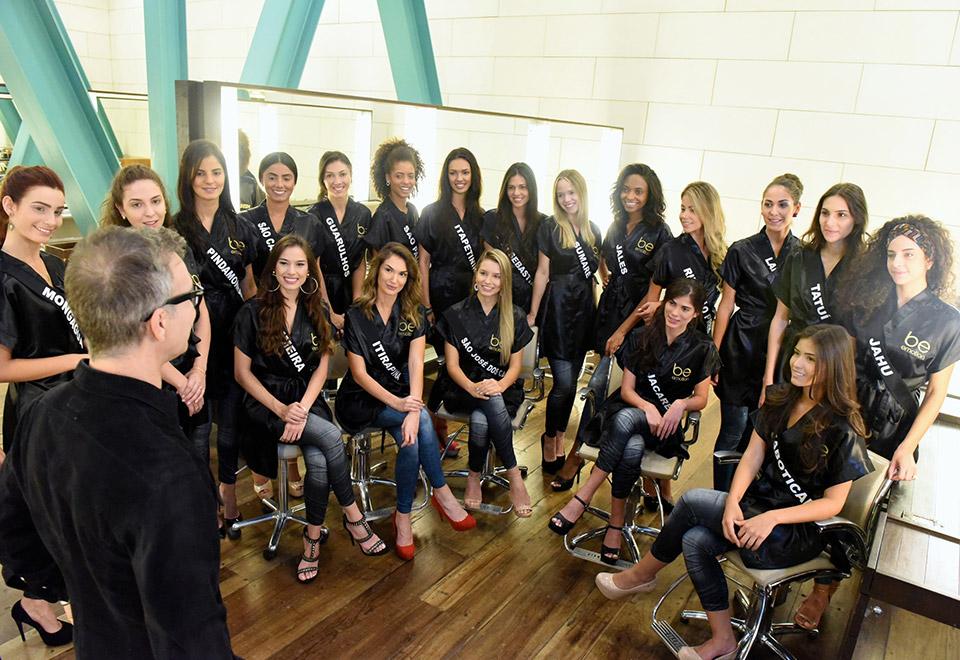 Candidatas a Miss São Paulo encaram desafio de maquiagem