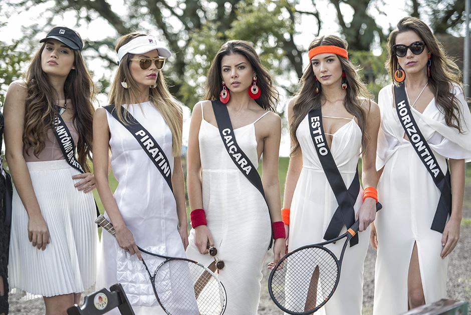 Misses do RS estrelam ensaio em quadra de tênis