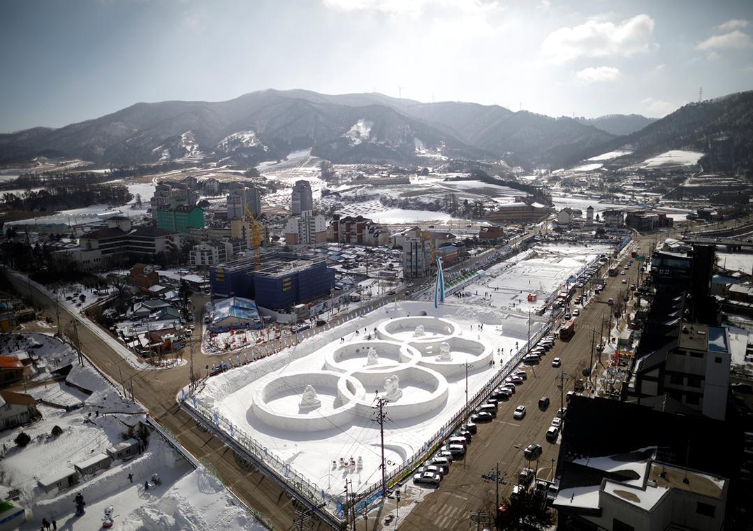Veja os preparativos para os Jogos de Inverno de 2018