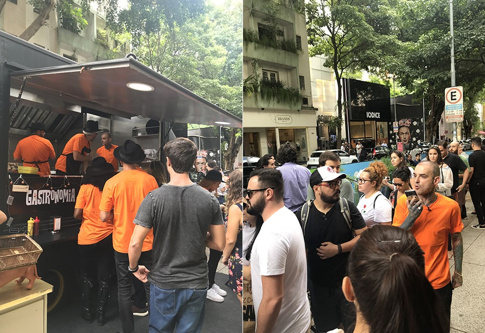Influenciadores vendem hot dog em food truck