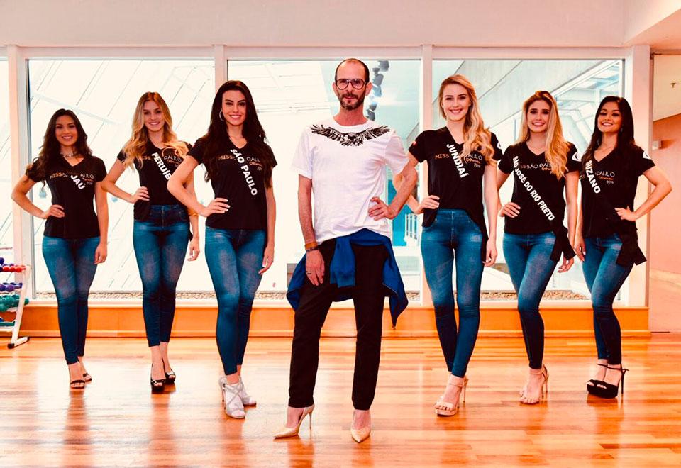 Aspirantes à Miss SP fazem ensaio de passarela para concurso