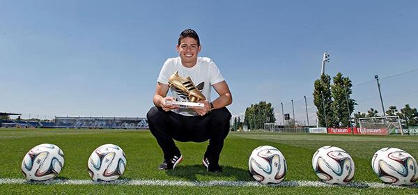 James Rodríguez foi artilheiro da Copa com seis gols em cinco jogos Antonio Villalba Real Madrid 600x280.jpg