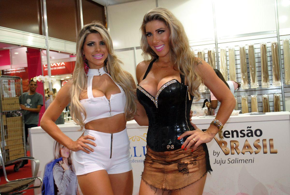 Irmãs Minerato prestigiam feira de cabelos / Divulgação/Eduardo Graboski
